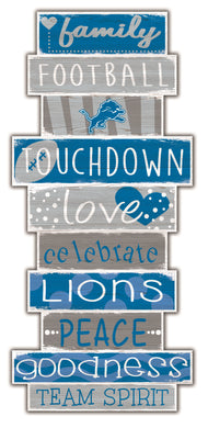 Detroit Lions Celebrations Stack Wood Sign -24