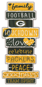 Green Bay Packers Celebrations Stack Wood Sign -24""
