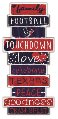 Houston Texans Celebrations Stack Wood Sign -24