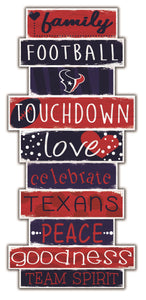 Houston Texans Celebrations Stack Wood Sign -24""