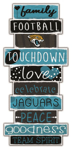 Jacksonville Jaguars Celebrations Stack Wood Sign -24""