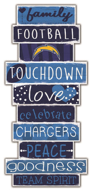 Los Angeles Chargers Celebrations Stack Wood Sign -24