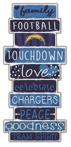 Los Angeles Chargers Celebrations Stack Wood Sign -24""