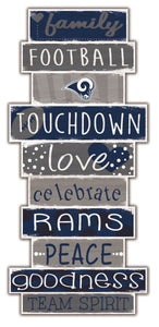 Los Angeles Rams Celebrations Stack Wood Sign -24""