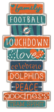 Miami Dolphins Celebrations Stack Wood Sign -24