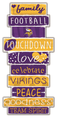 Minnesota Vikings Celebrations Stack Wood Sign -24
