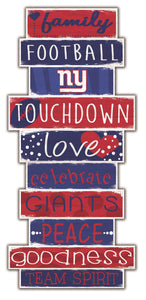 New York Giants Celebrations Stack Wood Sign -24""