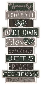 New York Jets Celebrations Stack Wood Sign -24""