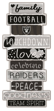 Oakland Raiders Celebrations Stack Wood Sign -24
