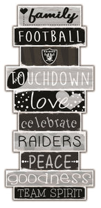 Oakland Raiders Celebrations Stack Wood Sign -24""
