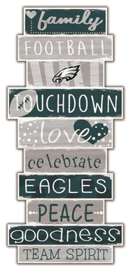 Philadelphia Eagles Celebrations Stack Wood Sign -24