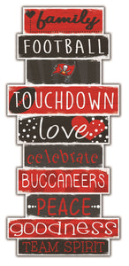 Tampa Bay Buccaneers Celebrations Stack Wood Sign -24""