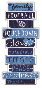 Tennessee Titans Celebrations Stack Wood Sign -24""