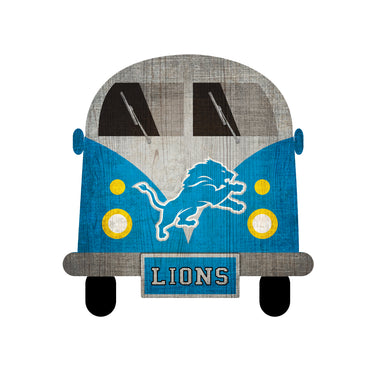 Detroit Lions Team Bus Sign