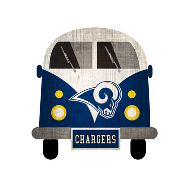 Los Angeles Rams Team Bus Sign