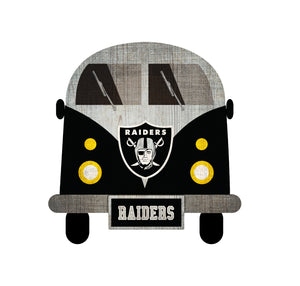 Oakland Raiders Team Bus Sign