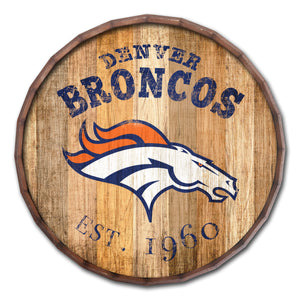 Denver Broncos Established Date Barrel Top -24""