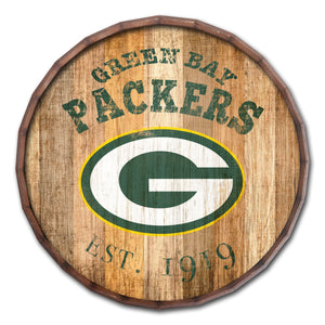 Green Bay Packers Established Date Barrel Top -24""