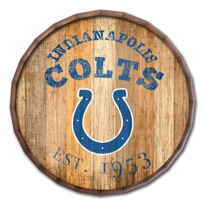 Indianapolis Colts Established Date Barrel Top -24""