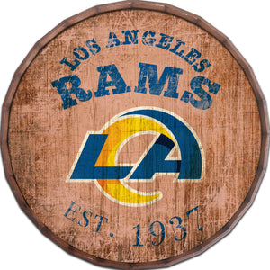 Los Angeles Rams Established Date Barrel Top -24""