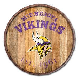 Minnesota Vikings Established Date Barrel Top -24""