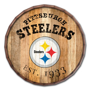 Pittsburgh Steelers Established Date Barrel Top -24""
