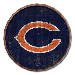 Chicago Bears Cracked Color Barrel Top -24""