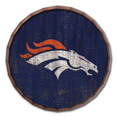 Denver Broncos Cracked Color Barrel Top - 16