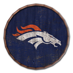 Denver Broncos Cracked Color Barrel Top -24""