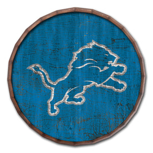 Detroit Lions Cracked Color Barrel Top -24""