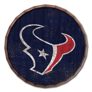 Houston Texans Cracked Color Barrel Top -24""