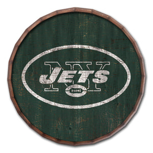 New York Jets Cracked Color Barrel Top -24""