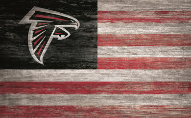 Atlanta Falcons Distressed Flag Sign - 11