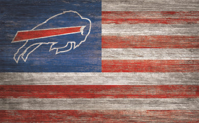 Buffalo Bills Distressed Flag Sign - 11