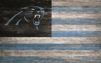 Carolina Panthers Distressed Flag Sign - 11