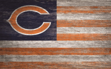 Chicago Bears Distressed Flag Sign - 11