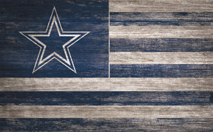 "Dallas Cowboys Distressed Flag Sign - 11""x19"""