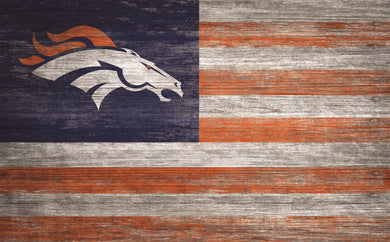 Denver Broncos Distressed Flag Sign - 11