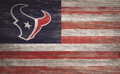 Houston Texans Distressed Flag Sign - 11