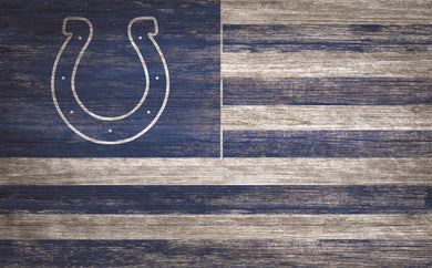 Indianapolis Colts Distressed Flag Sign - 11