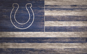 "Indianapolis Colts Distressed Flag Sign - 11""x19"""