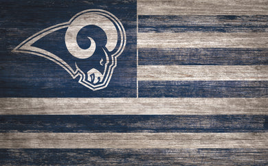 Los Angeles Rams Distressed Flag Sign - 11