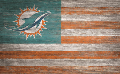 Miami Dolphins Distressed Flag Sign - 11