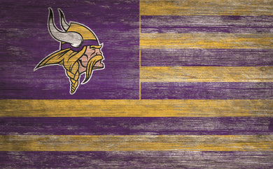 Minnesota Vikings Distressed Flag Sign - 11