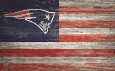 New England Patriots Distressed Flag Sign - 11