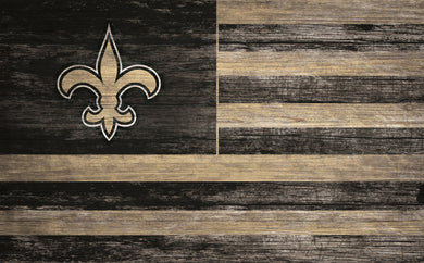 New Orleans Saints Distressed Flag Sign - 11