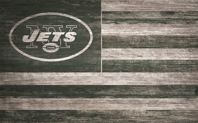New York Jets Distressed Flag Sign - 11