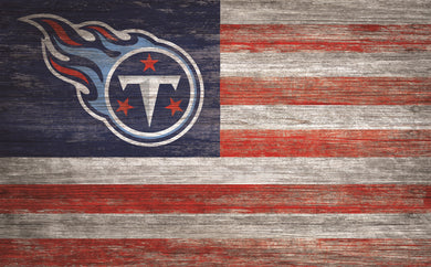 Tennessee Titans Distressed Flag Sign - 11