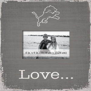Detroit Lions Love Picture Frame