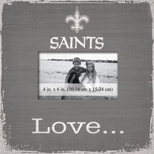New Orleans Saints Love Picture Frame
